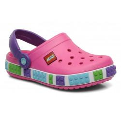 CROCS Crocband Kids Lego neon purple