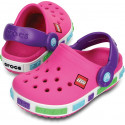 CROCS Crocband Kids Lego neon purple