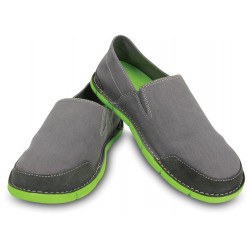 CROCS CABO LOAFER charcoal / volt green
