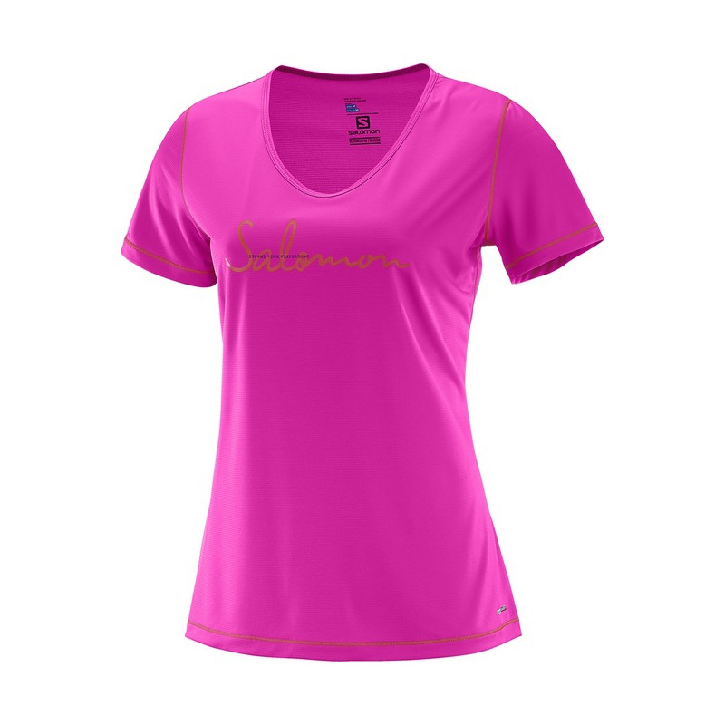 SALOMON MAZY GRAPHIC SS TEE W Rose Violet - 392746