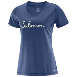 SALOMON MAZY GRAPHIC SS TEE W Deep Cobalt - 392748