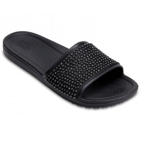 CROCS Sloane Embellished Slides Black