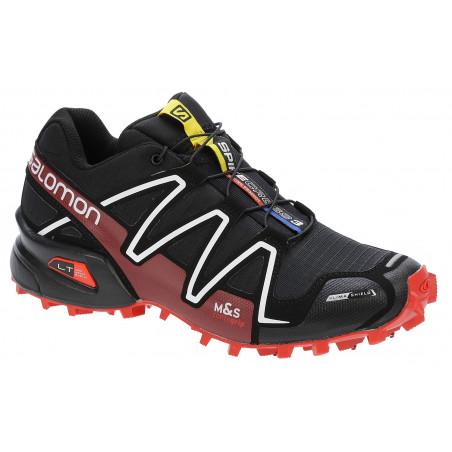 SALOMON Spikecross 3 CS - Black/Radiant Red/White
