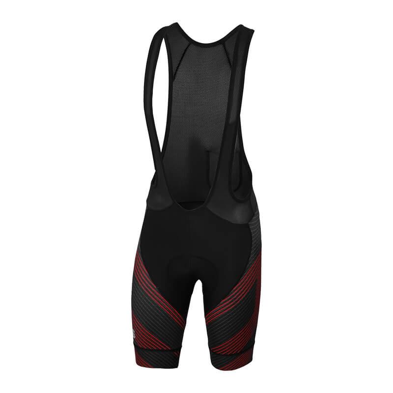 Sportful Bodyfit Team Faster Kraťasy s trakmi čierne/antracitové/cervené