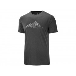 TRICKO SALOMON AGILE GRAPHIC TEE M Black/Heather 1286800
